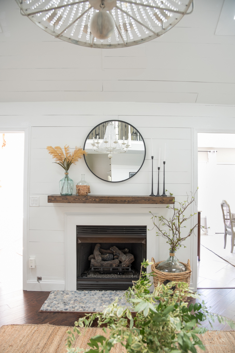 DIY Small Building Projects - Fireplace and Mantel Makeover by Home Stories A to Z