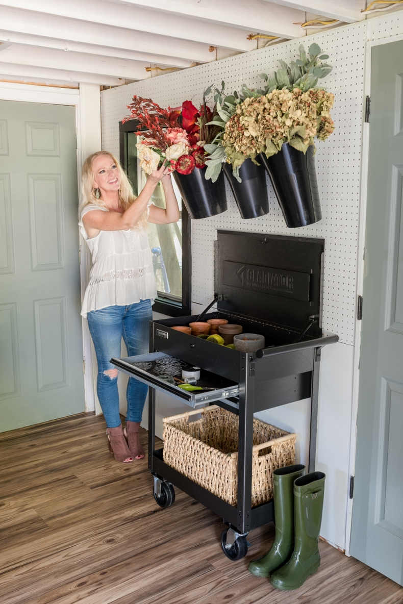 Faux Flower Storage Idea by Home Stories A to Z