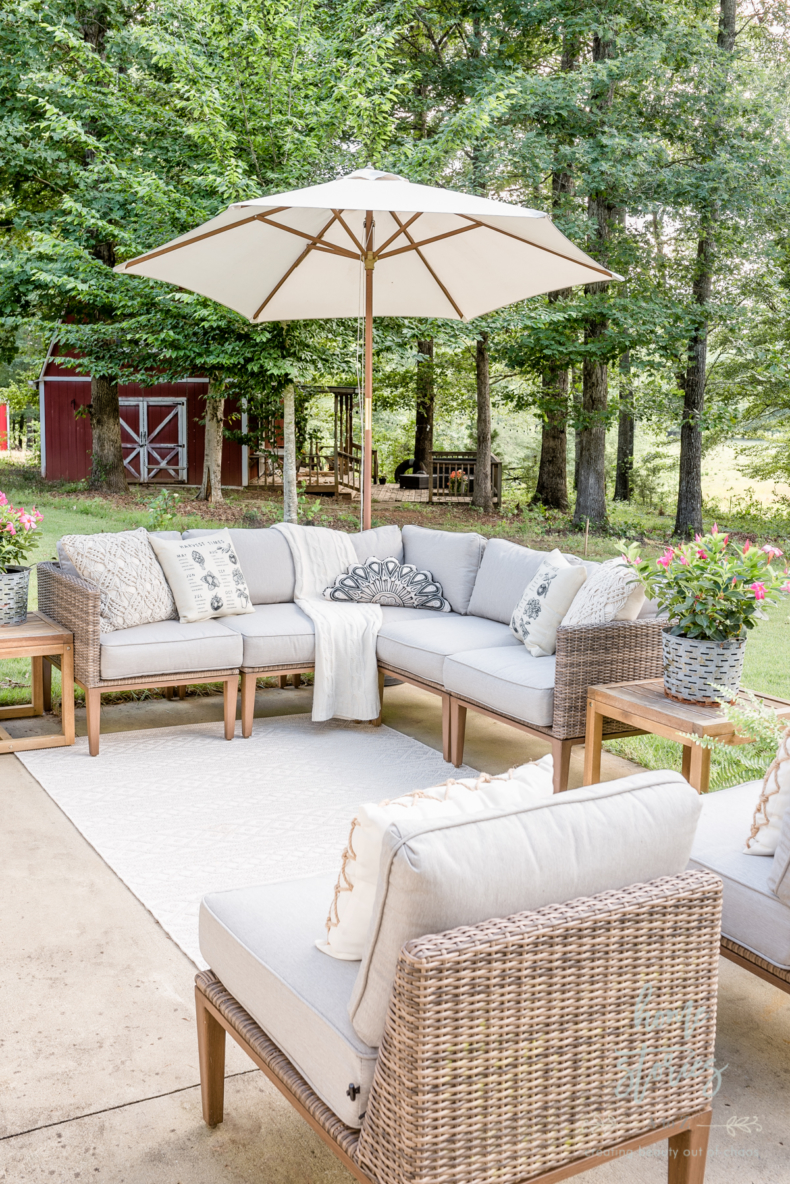 Neutral Summer Patio - Home Stories A to Z