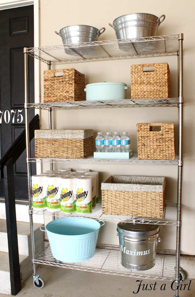 Organized Garage Shelves by Just a Girl