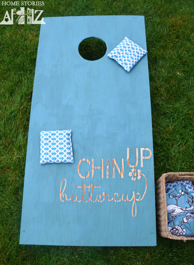 Summer Entertaining Tips - DIY Cornhole Board Tutorial by Home Stories A to Z