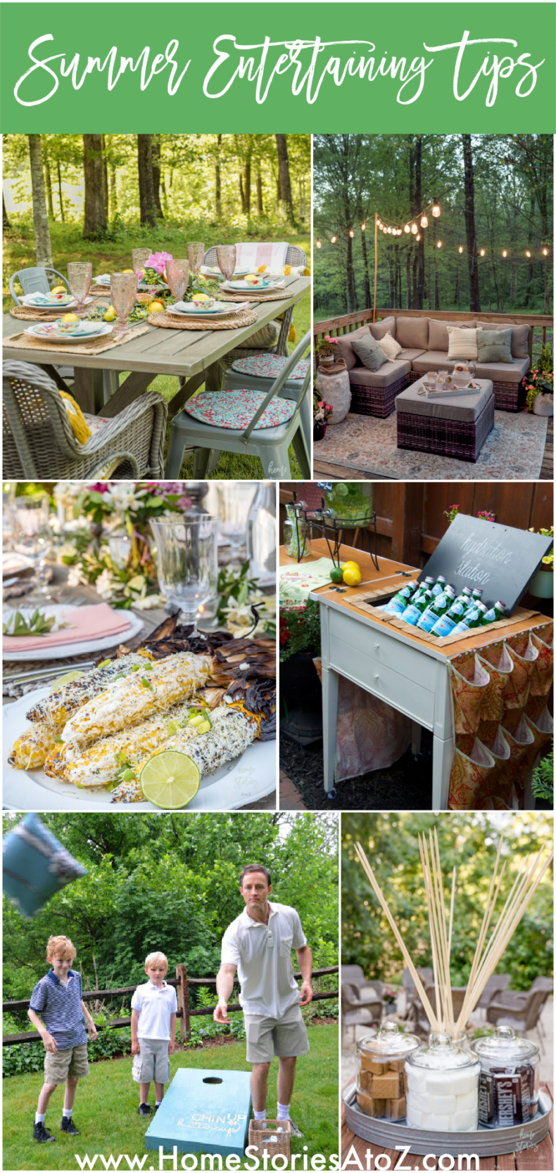 Summer Entertaining Tips - Home Stories A to Z