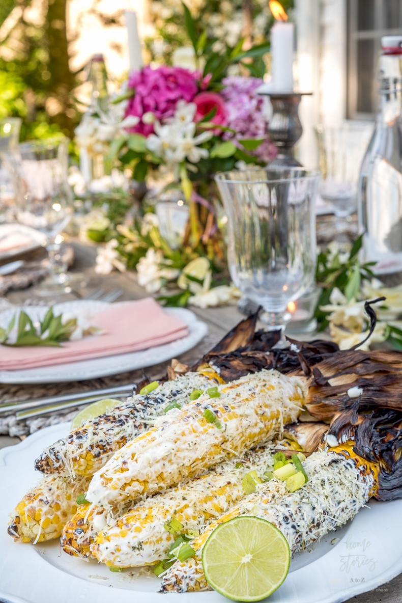 Summer Entertaining Tips - Mexican Street Corn by Home Stories A to Z