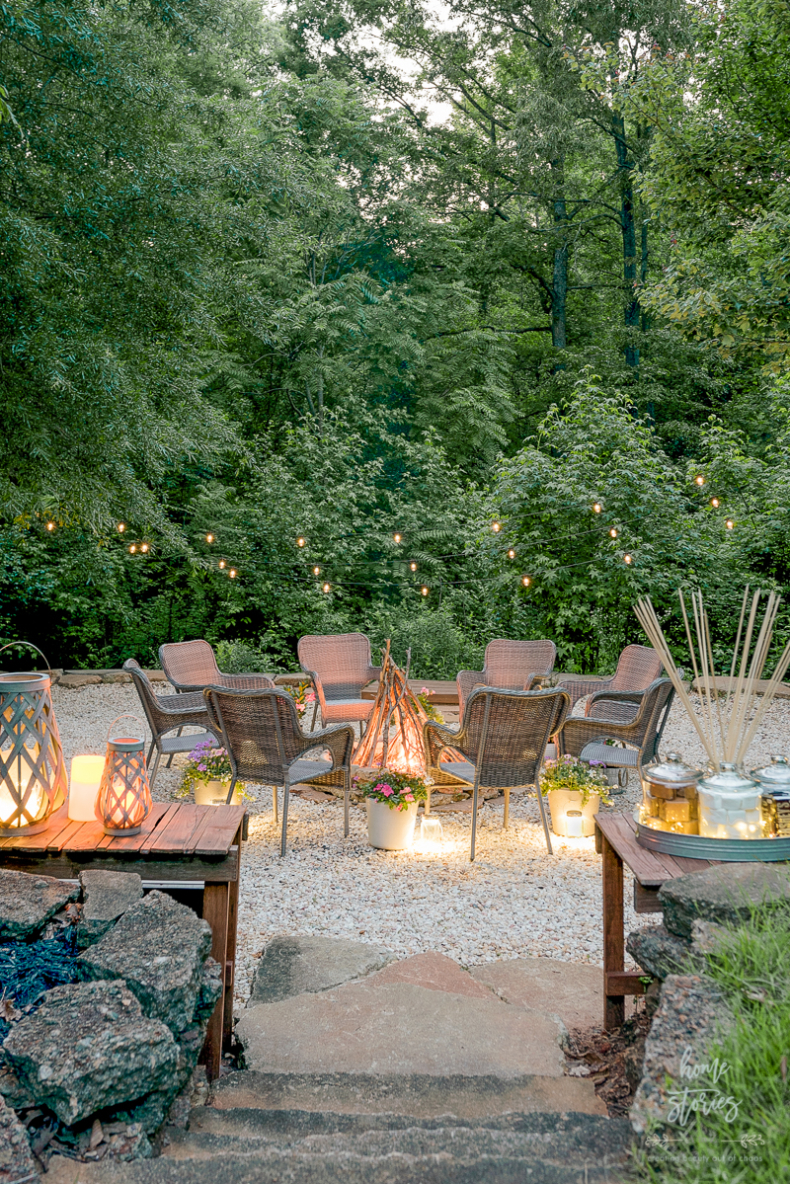 Summer Entertaining Tips - S'mores and DIY Gravel Pit by Home Stories A to Z