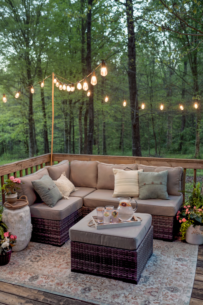 Summer Entertaining Tips - Solar Powered String Lights by Home Stories A to Z