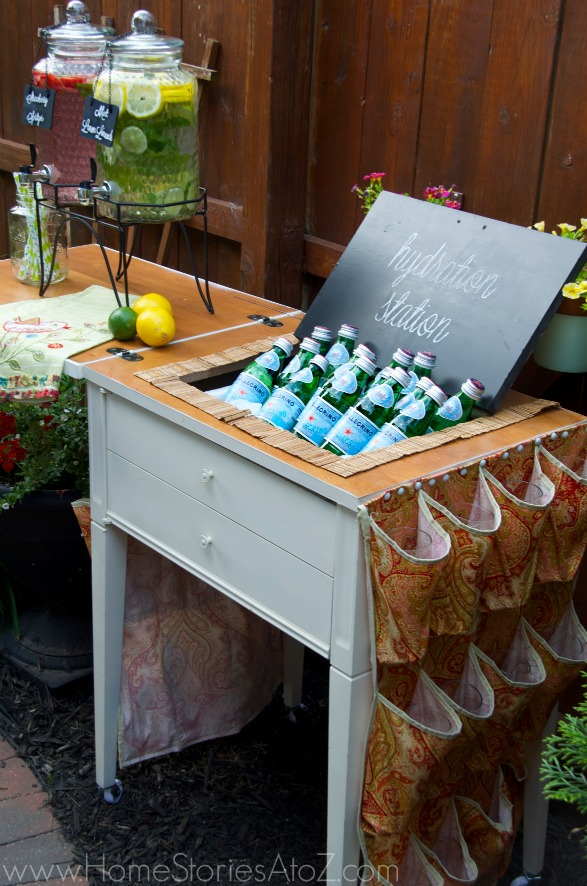 Summer Entertaining Tips - Summer Drink Station by Home Stories A to Z