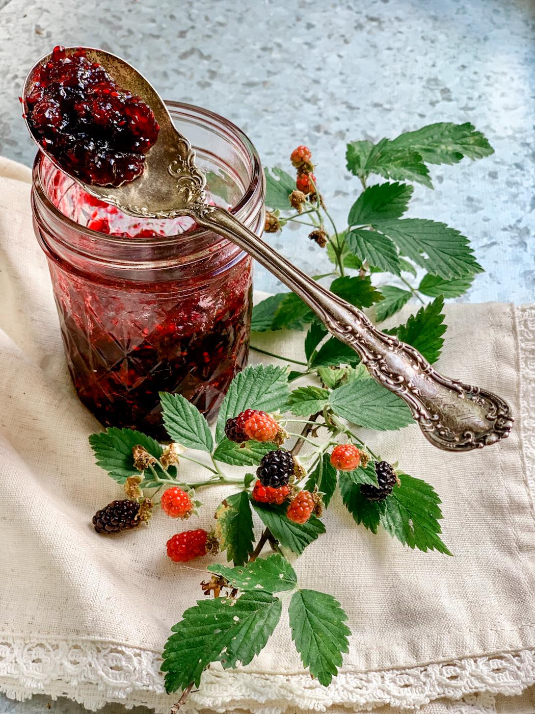 Easy Small Batch One Jar Wild Blackberry Jam Recipe