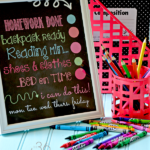 Back to School Organization Ideas - Dry Erase Chore Chart by The 36th Avenue