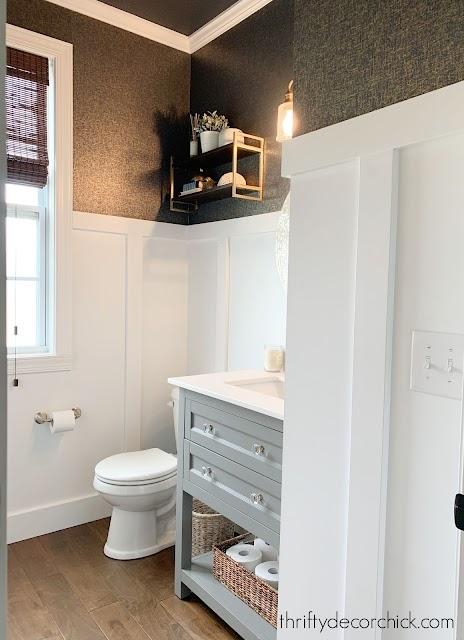 Wallpaper Inspiration - Bathroom Renovation by Thrifty Decor Chick
