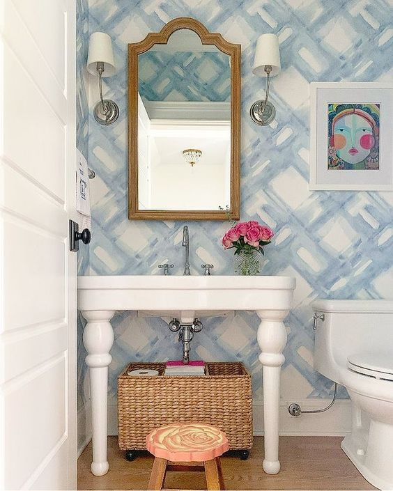 Wallpaper Inspiration - Bathroom Wallpaper by Crafting Culture