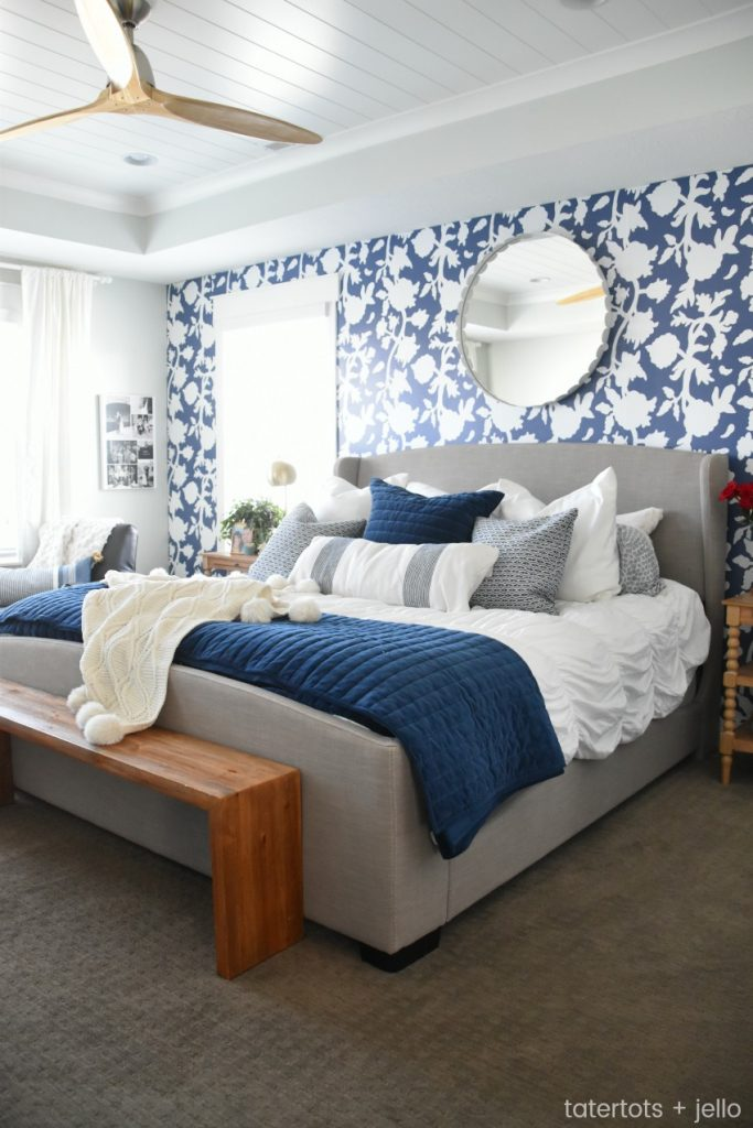 Wallpaper Inspiration - Bedroom Wallpaper by Tatertots and Jello