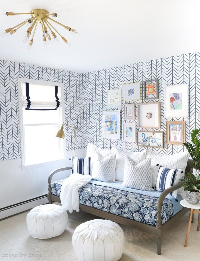 Wallpaper Inspiration - Bonus Craft Room by Driven by Decor