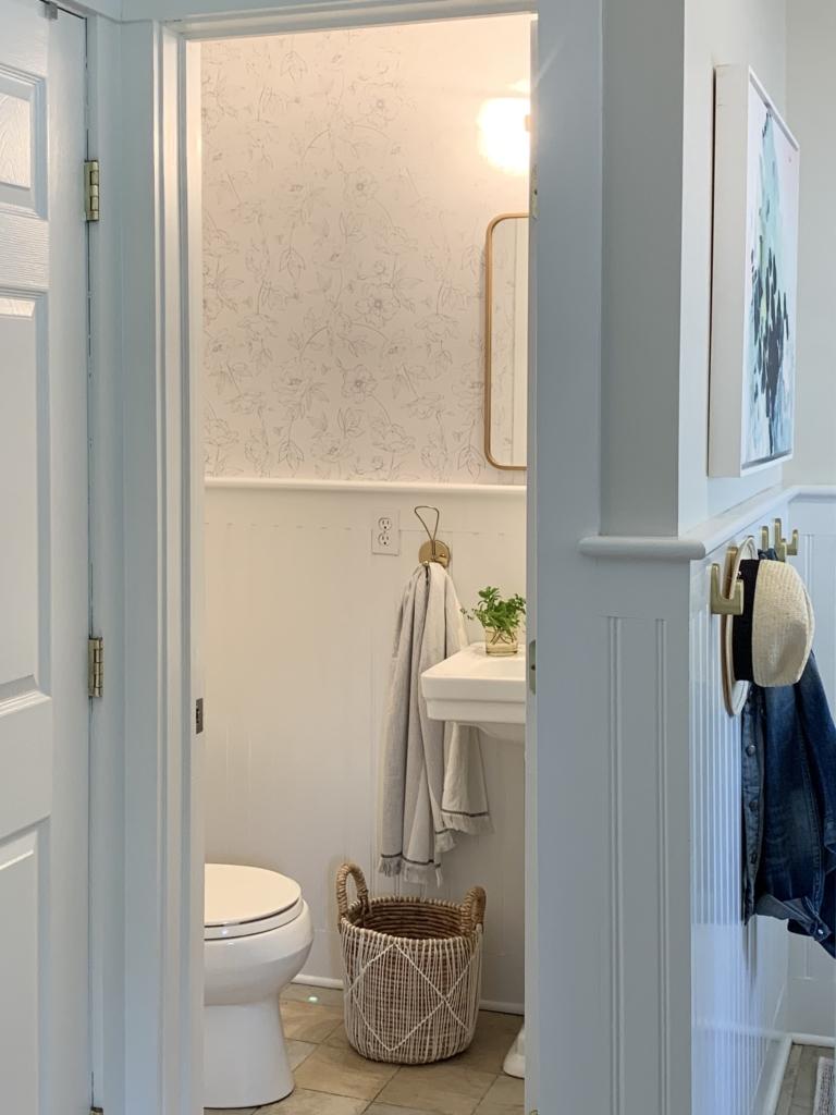 Wallpaper Inspiration - Botanical Bathroom Makeover by City Farmhouse
