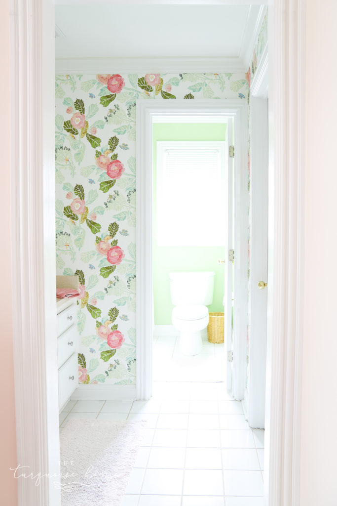 Wallpaper Inspiration - Botanical Bathroom by The Turquoise Home