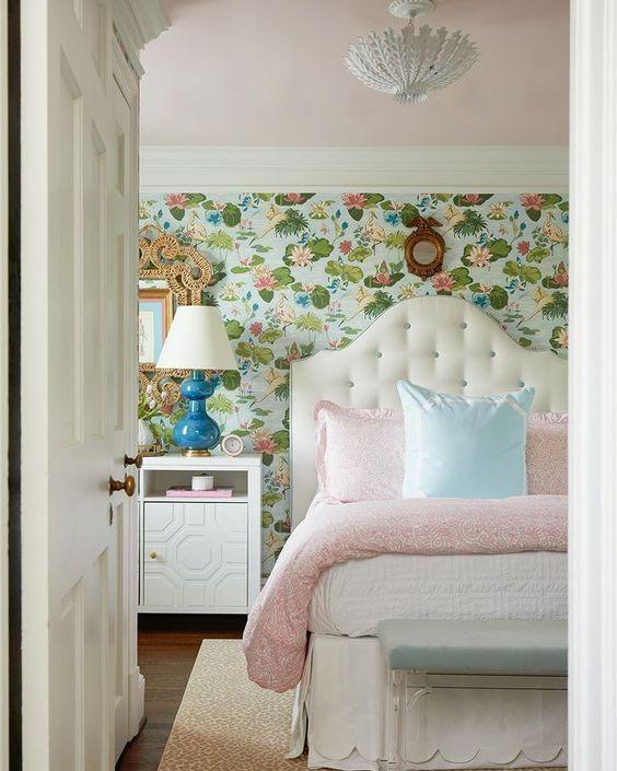 Wallpaper Inspiration - Botanical Bedroom by Ashley Hanley