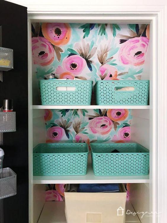 Wallpaper Inspiration - Closet Makeover by Kalediscope Living