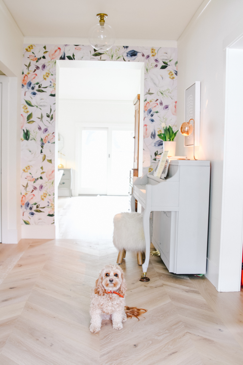Wallpaper Inspiration - Entryway Accent Wall by Modern Glam