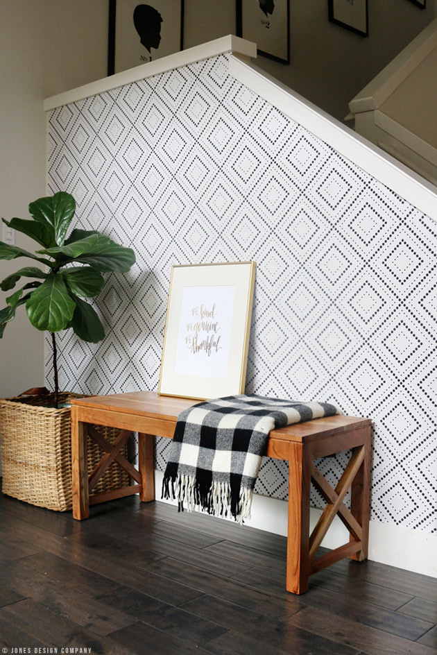 Wallpaper Inspiration- Stairwell Wall by Jones Design Company n