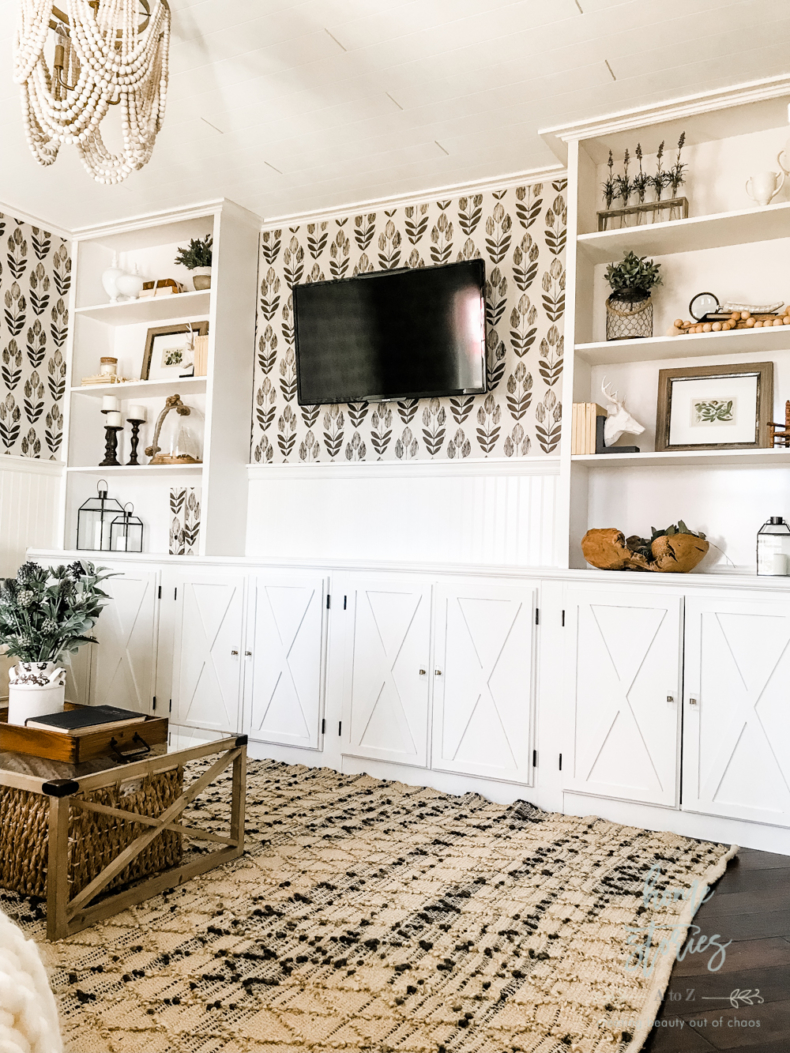 Wallpaper Inspiration - Media Room Makeover by Home Stories A to Z