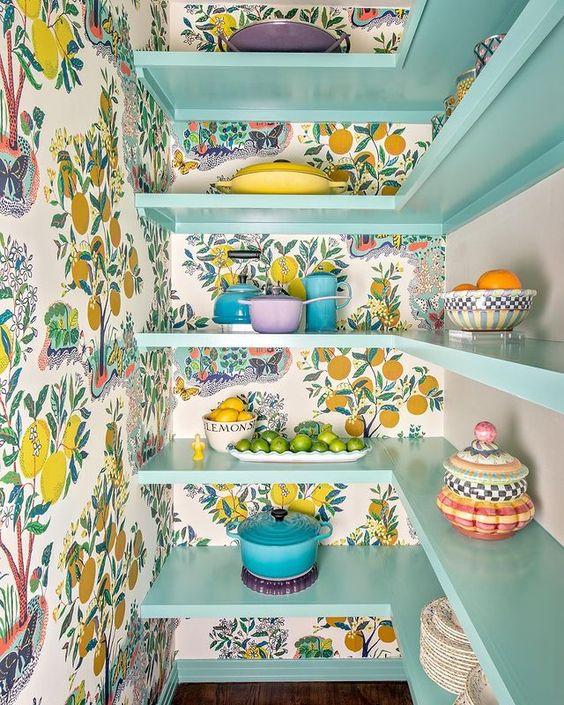 Wallpaper Inspiration - Pantry Makeover by Lauren Reynolds Design