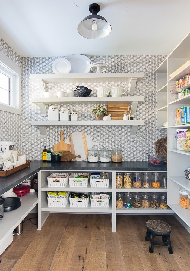 Wallpaper Inspiration - Pantry by Lilypad Cottage