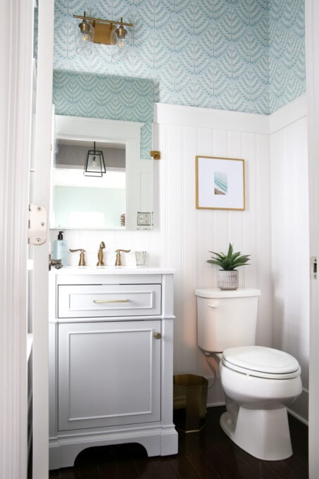 Wallpaper Inspiration - Powder Room Makeover by Abby Lawson