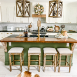 fall decor kitchen dining room