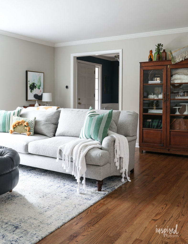 Fall Decor Ideas - Autumn Living Room by Inspired by Charm
