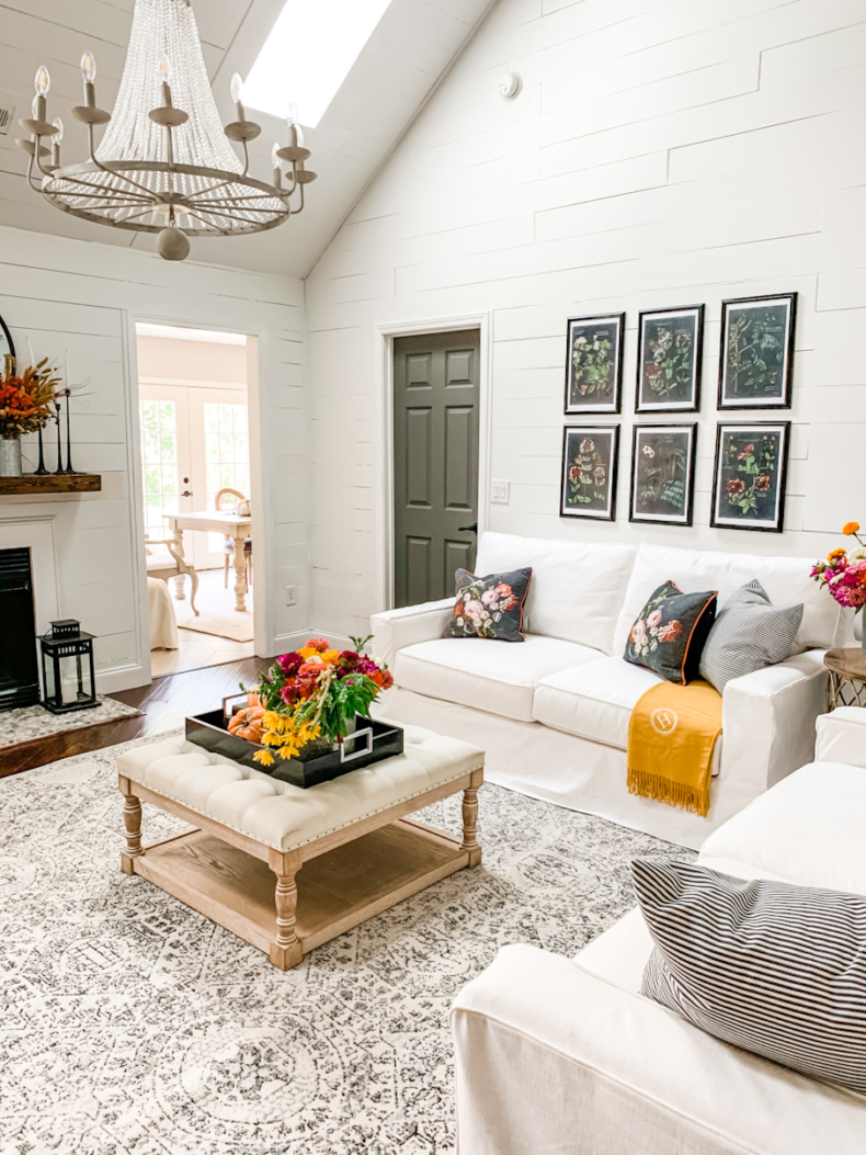 Fall Decor Ideas - Botanical Fall Living Room by Home Stories A to Z