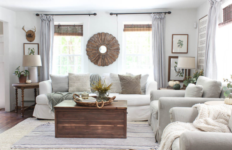 Fall Decor Ideas - Fall Living Room by Rooms for Rent Blog
