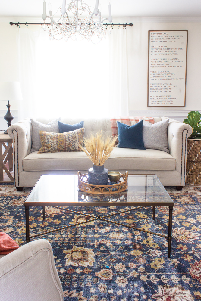 Fall Decor Ideas - Fall Living Room by Shades of Blue Interiors