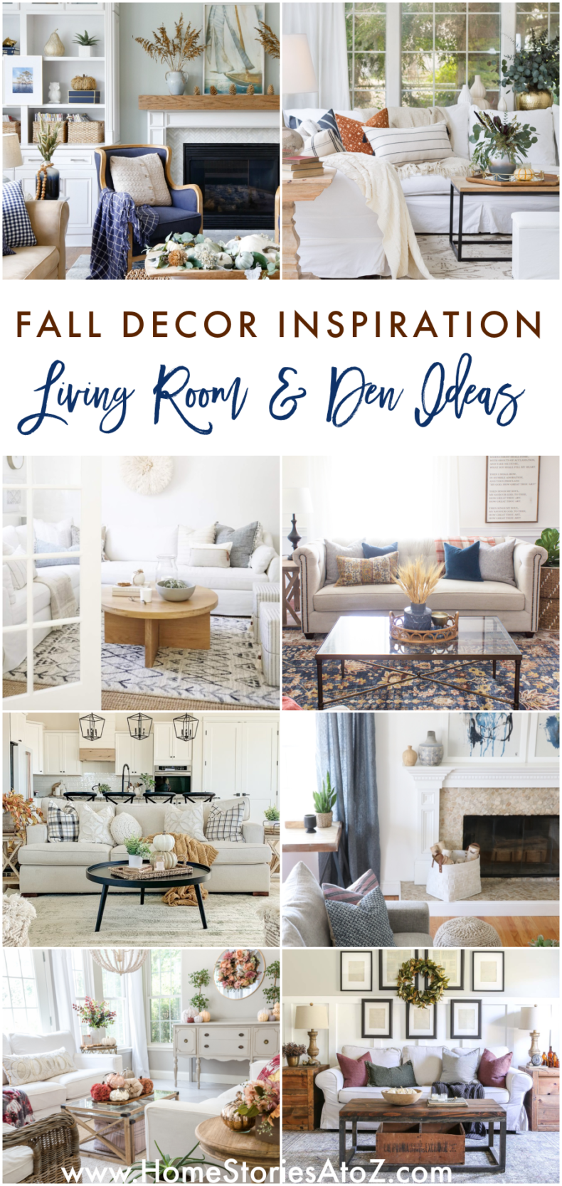 Fall Decor Ideas - Fall Living Rooms and Dens