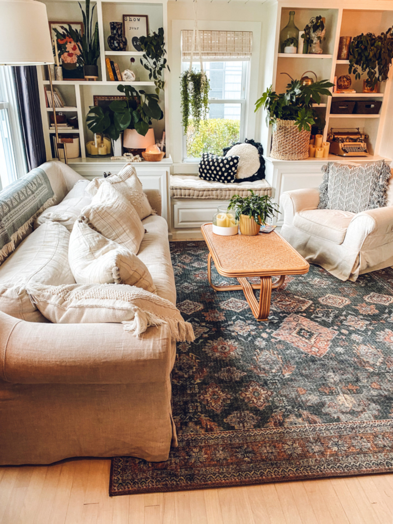 Fall Decor Ideas - Living Room by Nesting with Grace