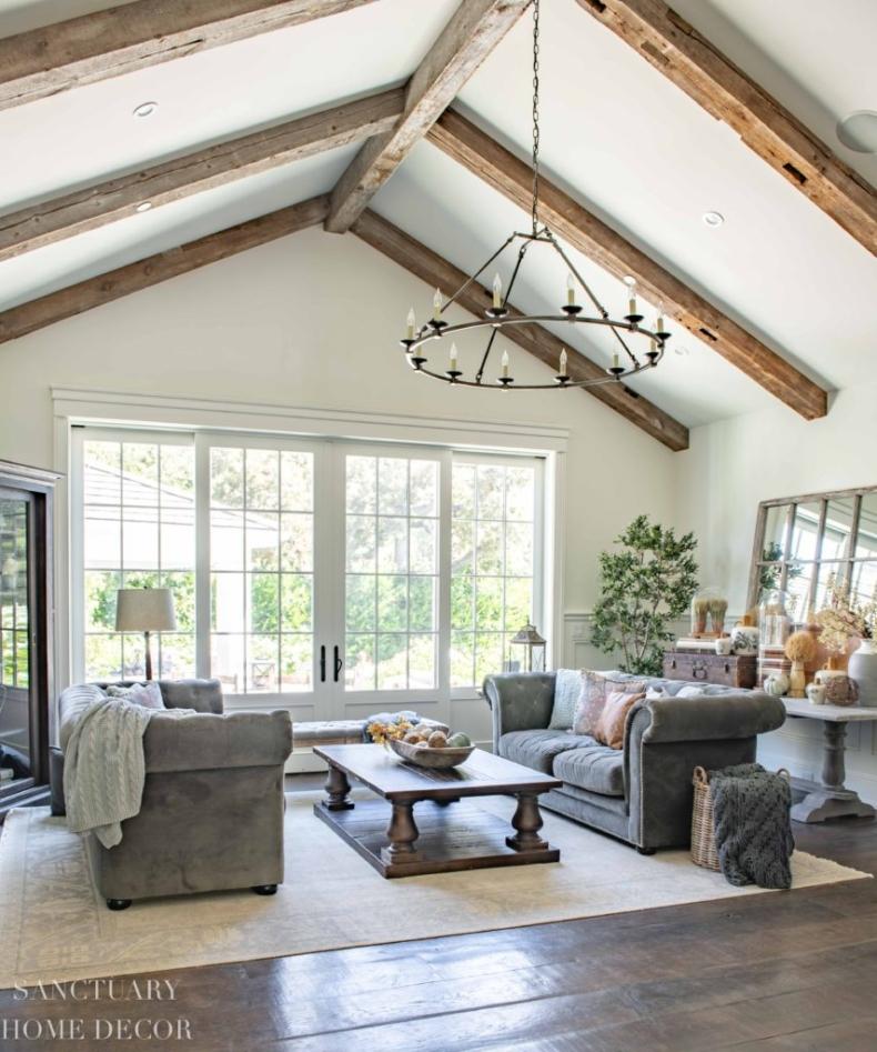 Fall Decor Ideas - Living Room by Sanctuary Home Decor