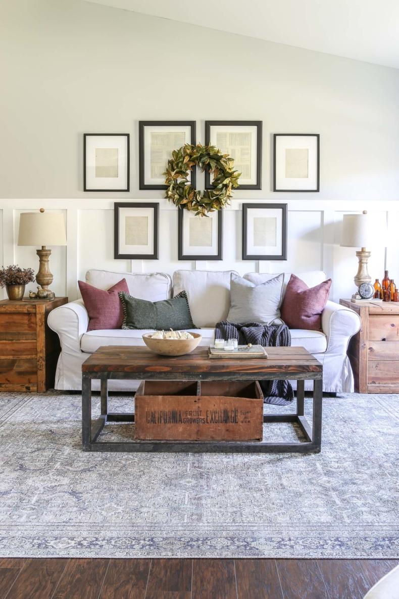 Fall Decor Ideas - Moody Fall Living Room by Little Glass Jar