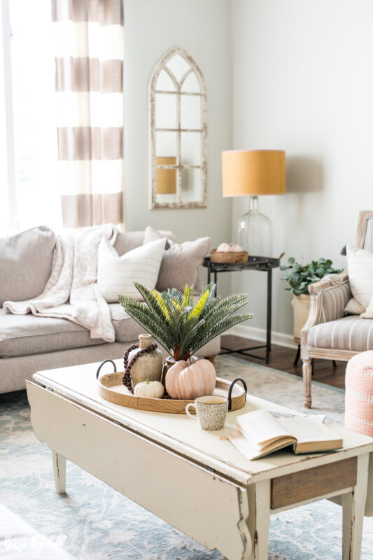 Fall Decor Ideas - Simple Eye-Catching Fall Living Room by House by Hoff