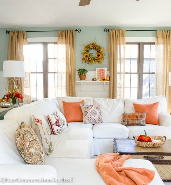 Fall Decor Ideas - Traditional Fall Colors by Four Generations One Roof
