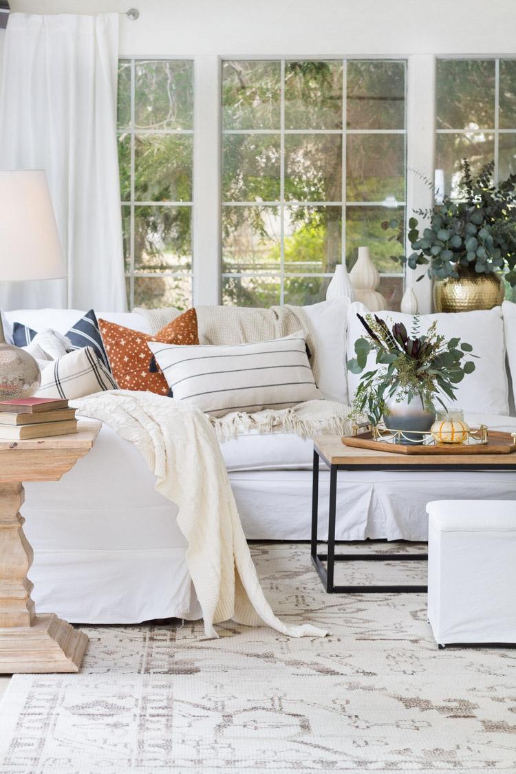 Fall Decor ideas - Comfy Fall Family Room by Zevy Joy