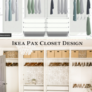 ikea pax closet wall design
