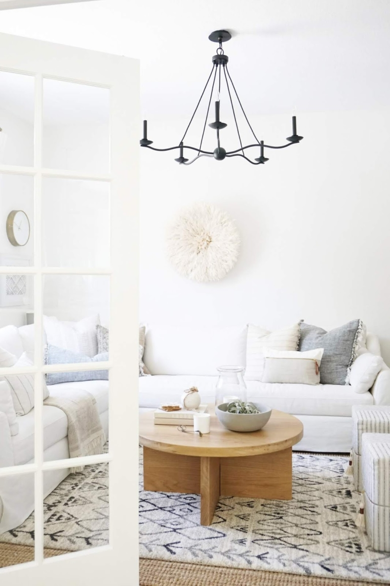 Neutral Fall Living Room by Almafied via Thrifty Decor Chick