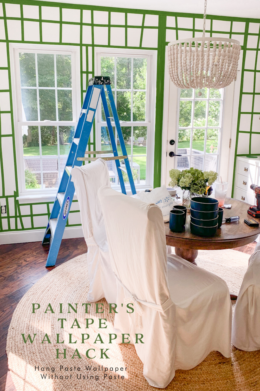 how to hang wallpaper without damaging walls or using paste