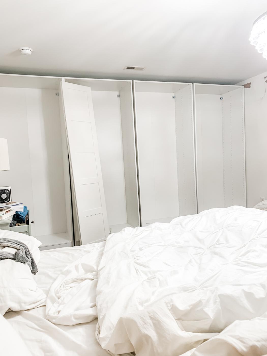 built in ikea pax wardrobe closet design