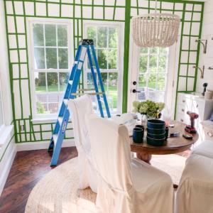 painters tape wallpaper hanging
