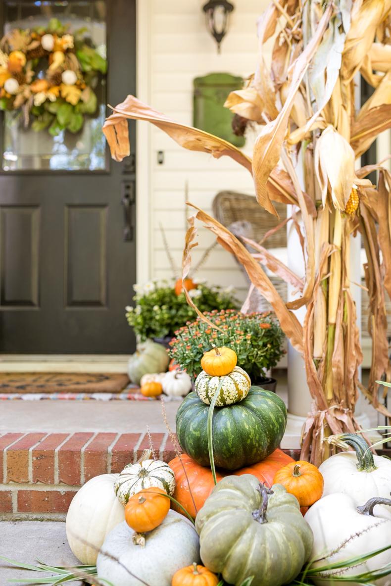 Traditional Fall Porch Decor