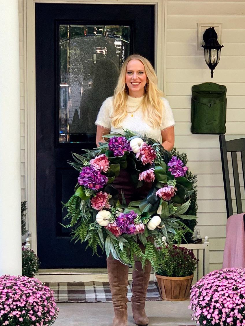 XL Fall Wreath DIY Tutorial